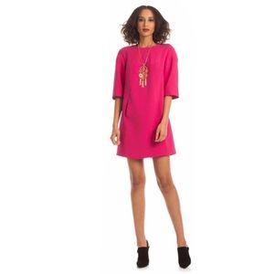 Trina Turk Hot Pink Kalene Shit Dress with Pockets